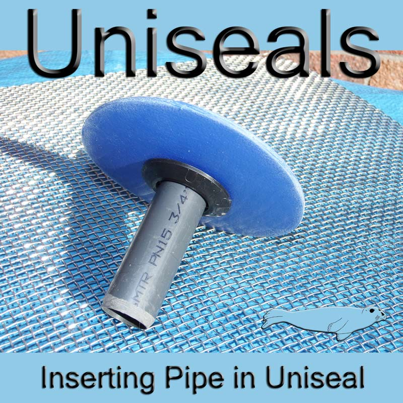 Inserting 3/4 pipe into Uniseal in situ